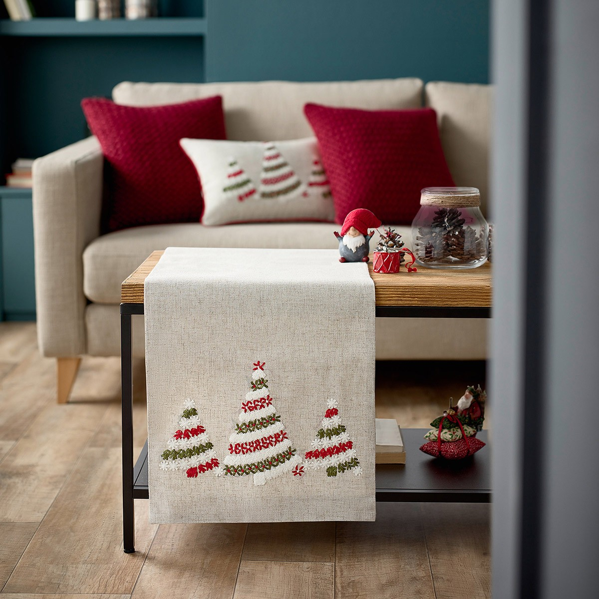 Χριστουγεννιάτικη Τραβέρσα Gofis Home 150 home   χριστουγεννιάτικα   χριστουγεννιάτικες τραβέρσες