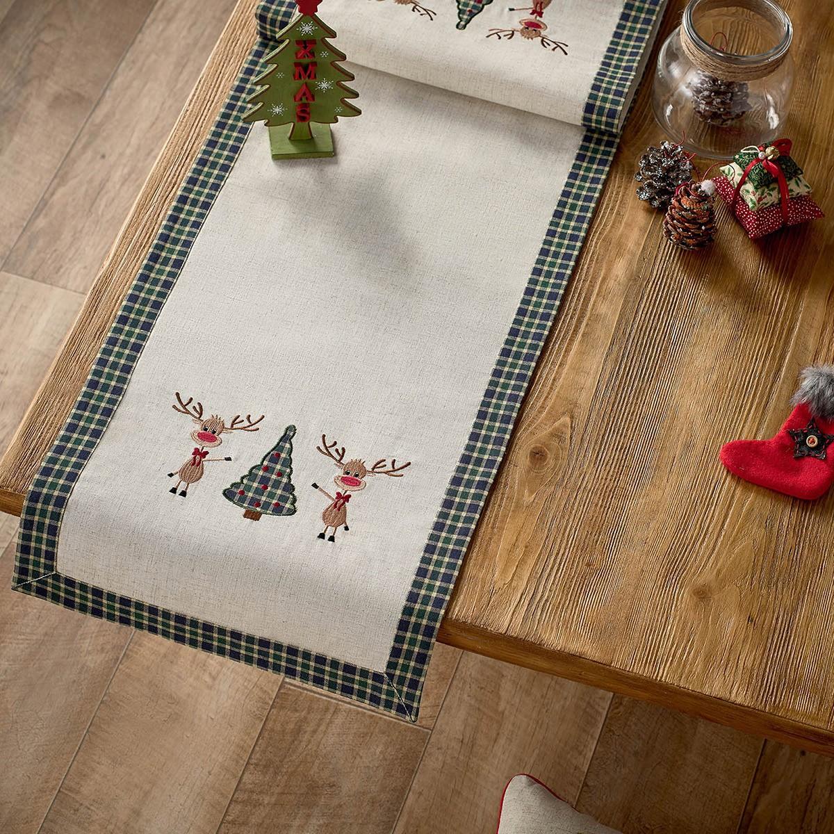 Χριστουγεννιάτικη Τραβέρσα Gofis Home 273