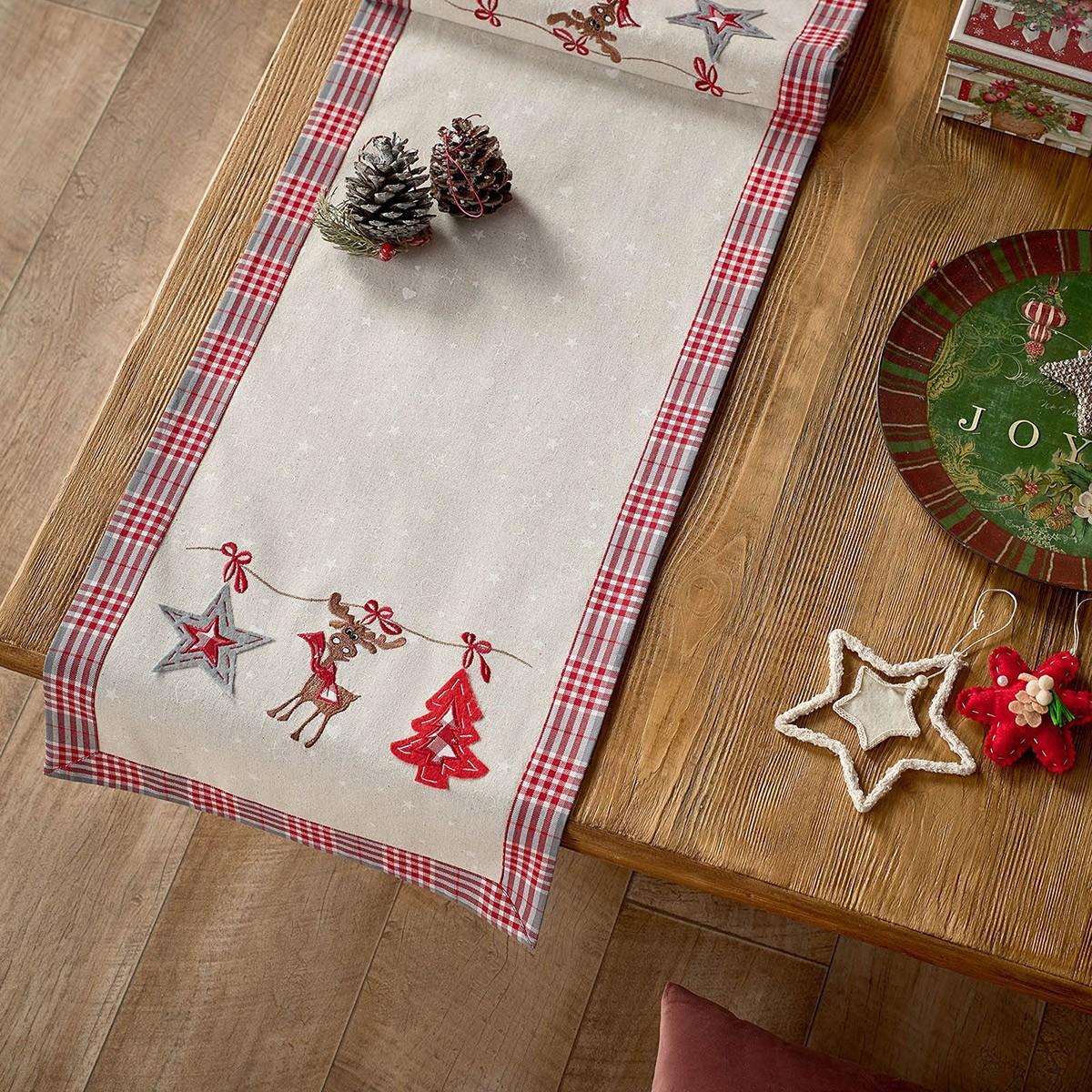 Χριστουγεννιάτικη Τραβέρσα Gofis Home 336
