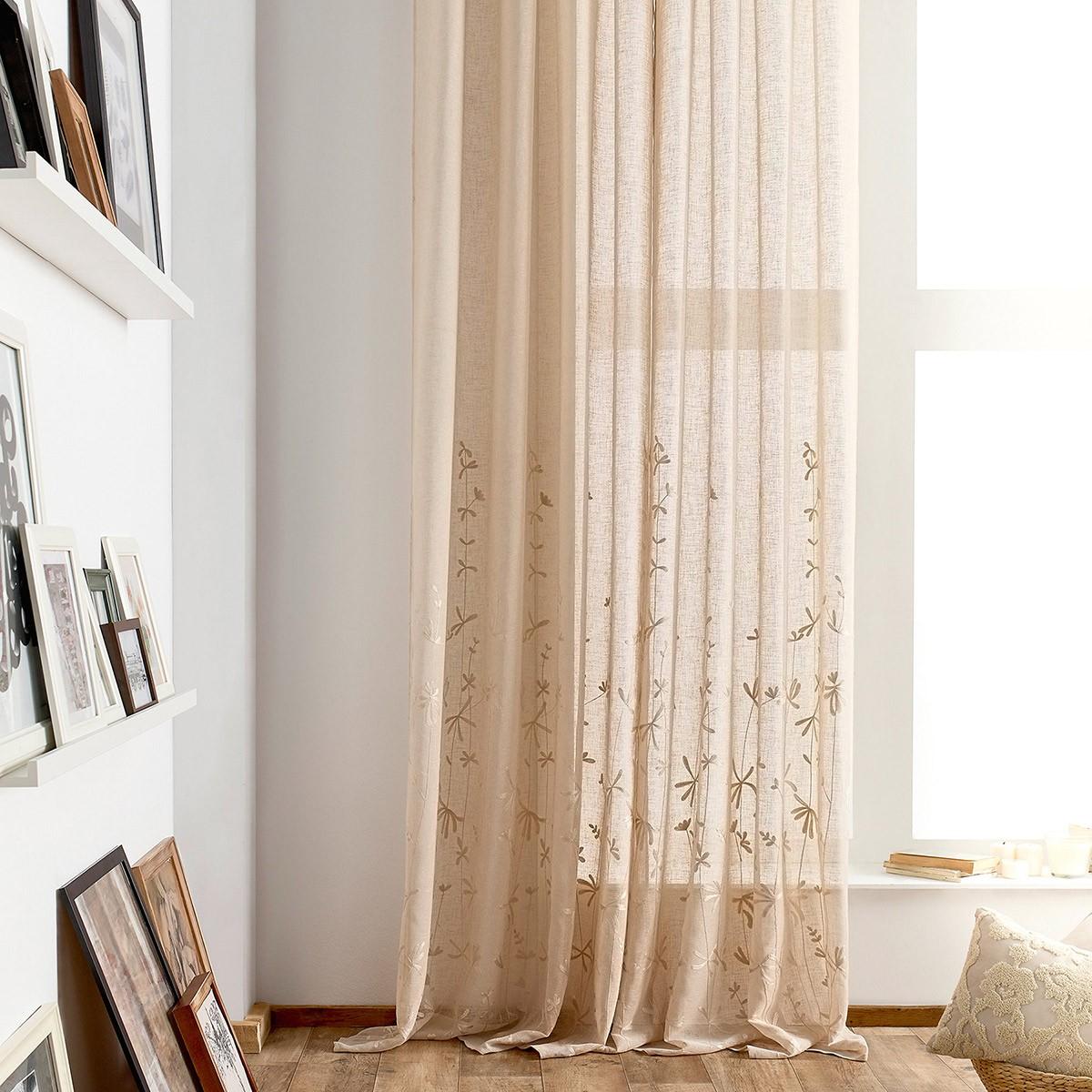 Κουρτίνα (140x280) Gofis Home Lisa Beige 545/04