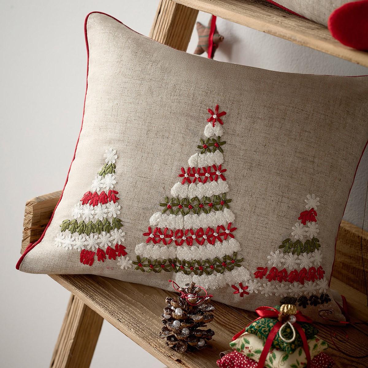 Χριστουγεννιάτικη Μαξιλαροθήκη Gofis Home 150 home   χριστουγεννιάτικα   χριστουγεννιάτικα μαξιλάρια