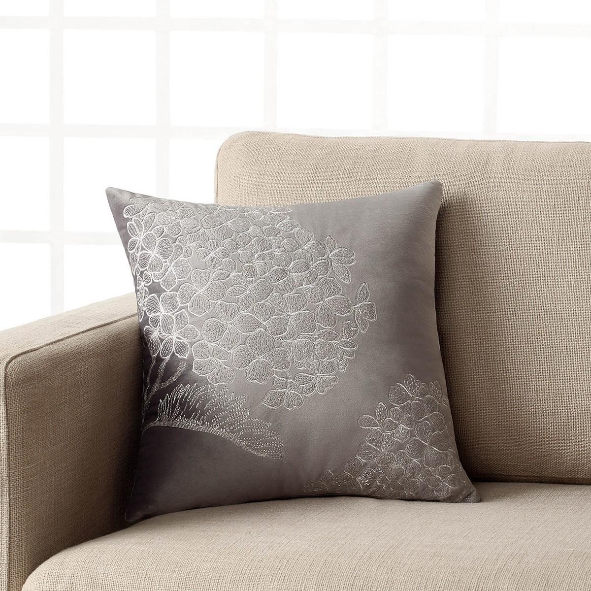 Διακοσμητική Μαξιλαροθήκη Gofis Home Rosebush Grey 324/15