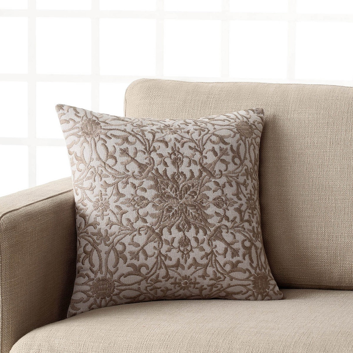 Διακοσμητική Μαξιλαροθήκη Gofis Home Ivy Grey 432/15