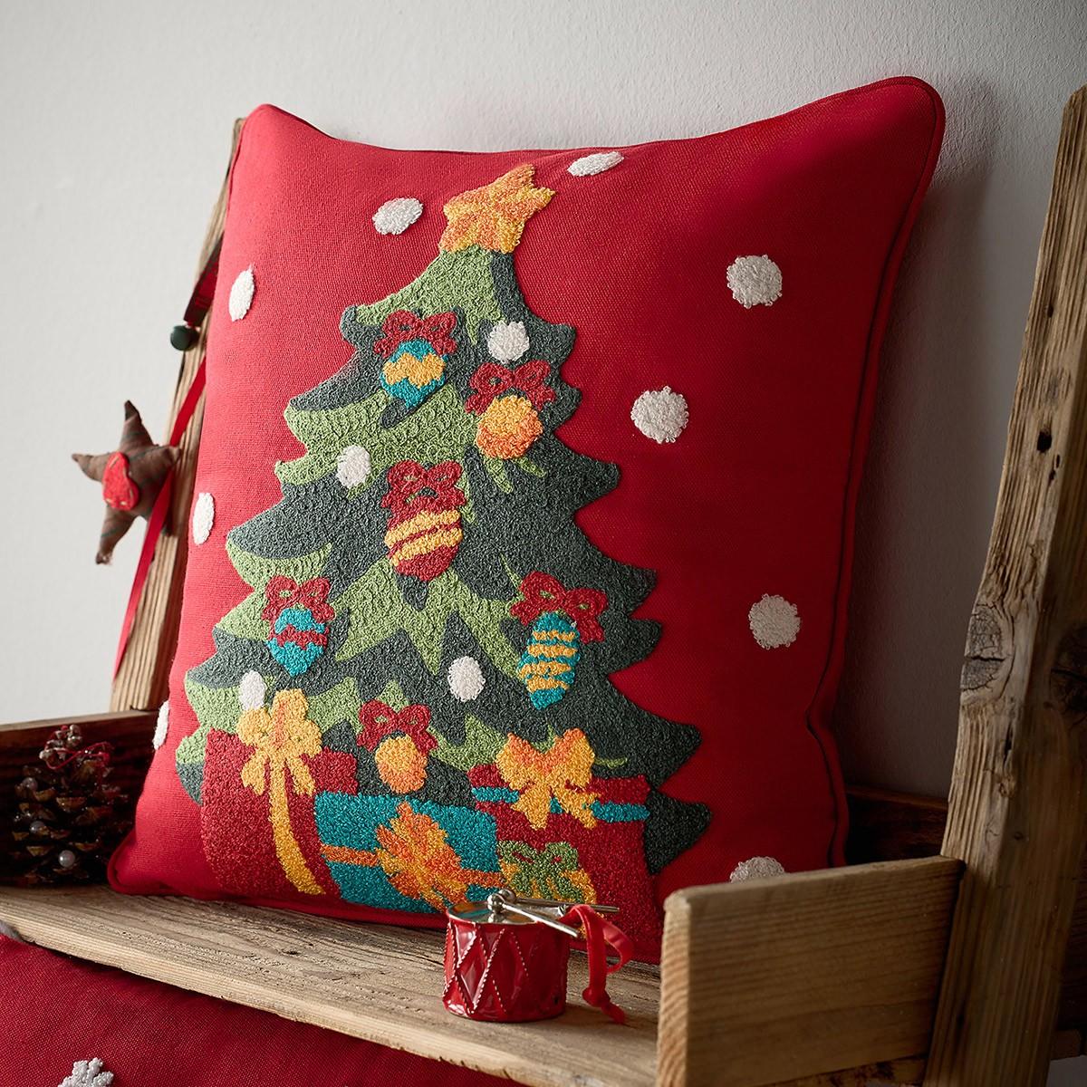 Χριστουγεννιάτικη Μαξιλαροθήκη Gofis Home 583 home   χριστουγεννιάτικα   χριστουγεννιάτικα μαξιλάρια