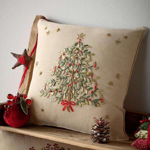 Χριστουγεννιάτικη Μαξιλαροθήκη (43x43) Gofis Home 828