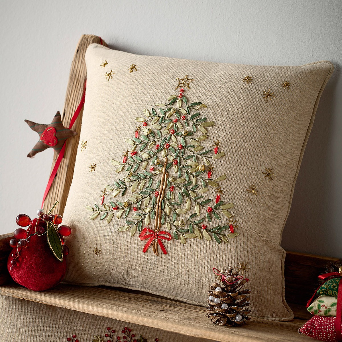 Χριστουγεννιάτικη Μαξιλαροθήκη (43×43) Gofis Home 828