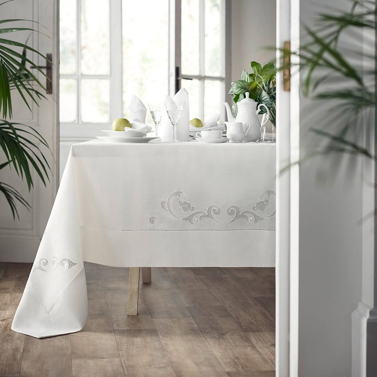 Τραπεζομάντηλο (150×260) Gofis Home Audrey Off White 252/15