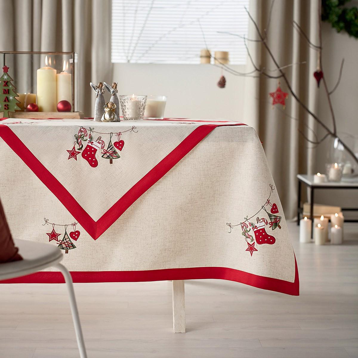 Χριστουγεννιάτικο Τραπεζομάντηλο (135×180) Gofis Home 106