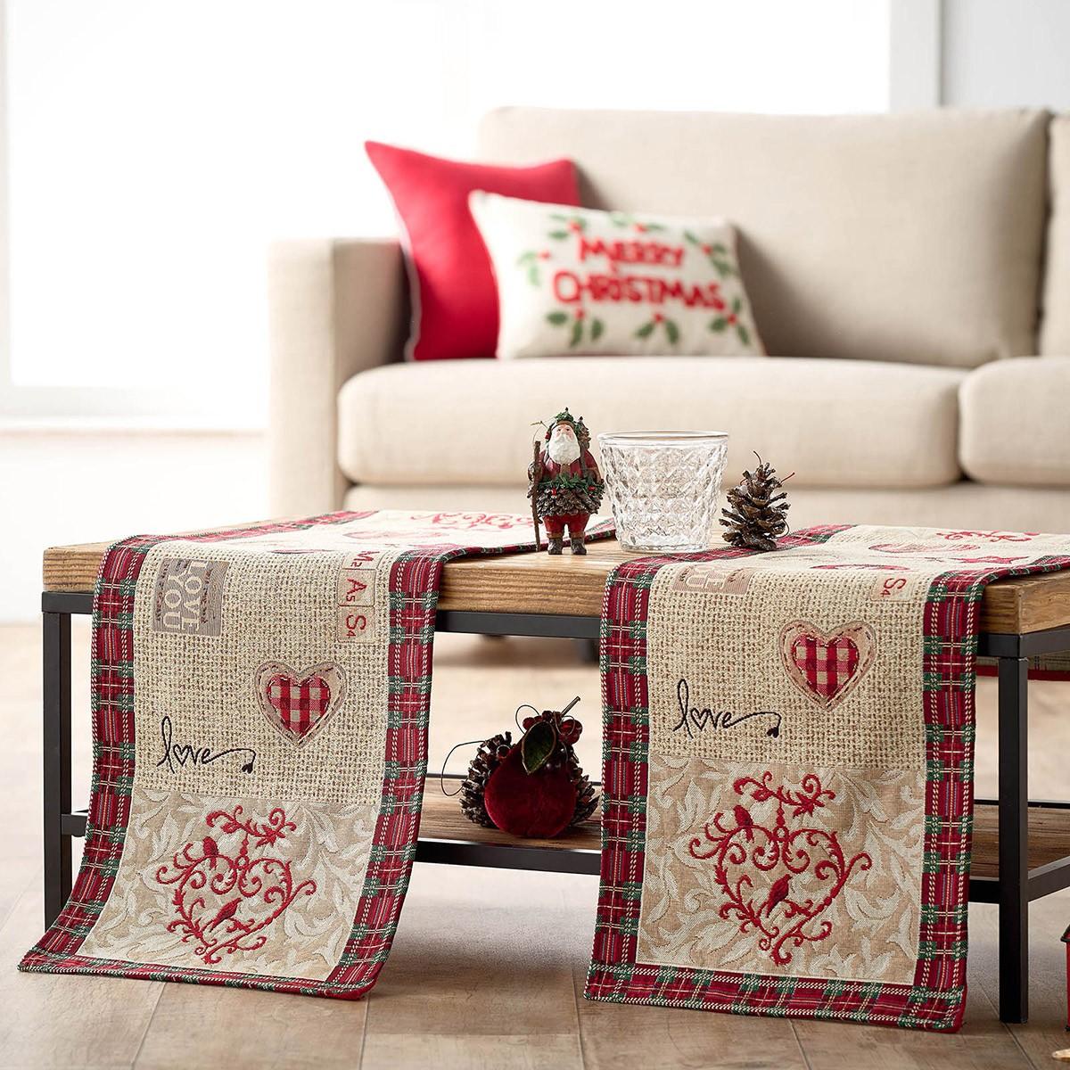 Χριστουγεννιάτικο Σεμέν (40x100) Gofis Home 596 home   χριστουγεννιάτικα   χριστουγεννιάτικες τραβέρσες