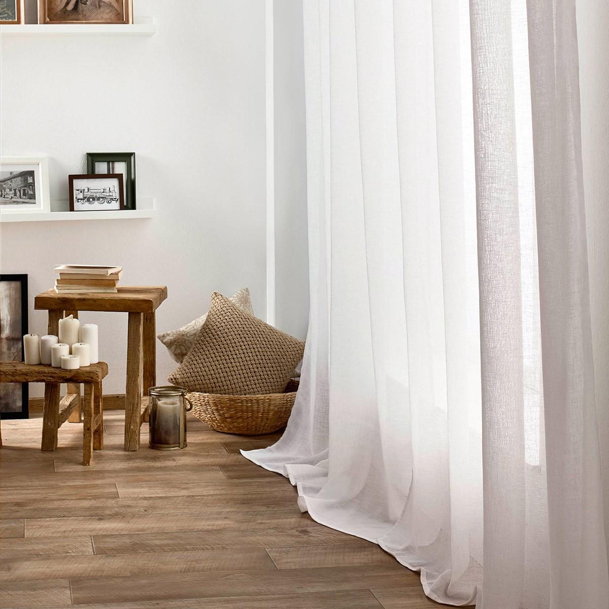 Κουρτίνα (140×280) Με Τρουκς Gofis Home Combe Off White 502/16