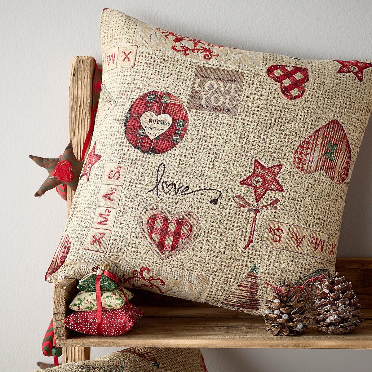 Χριστουγεννιάτικη Μαξιλαροθήκη Gofis Home 596