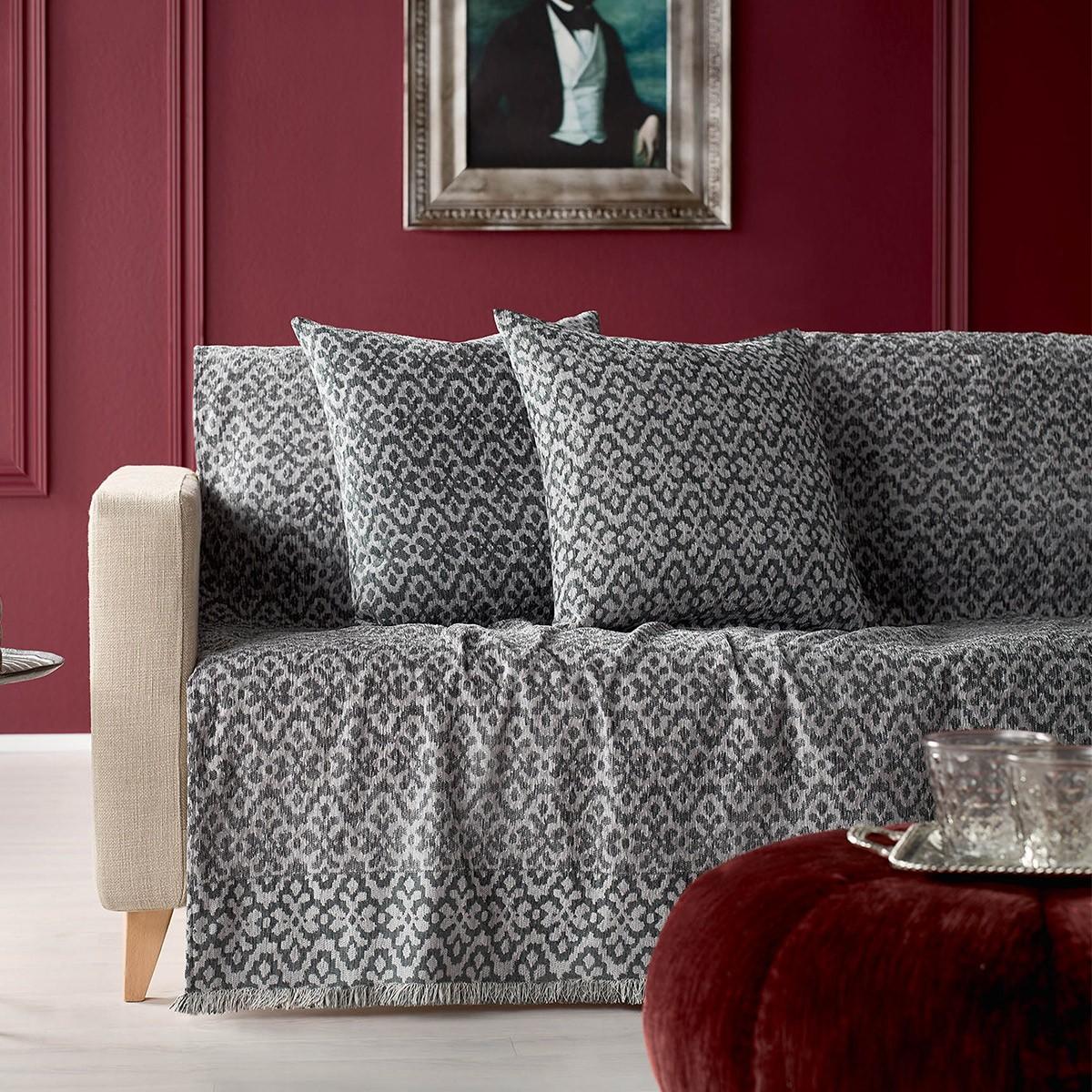 Ριχτάρι Τετραθέσιου (180×350) Gofis Home Peru Grey 452/15