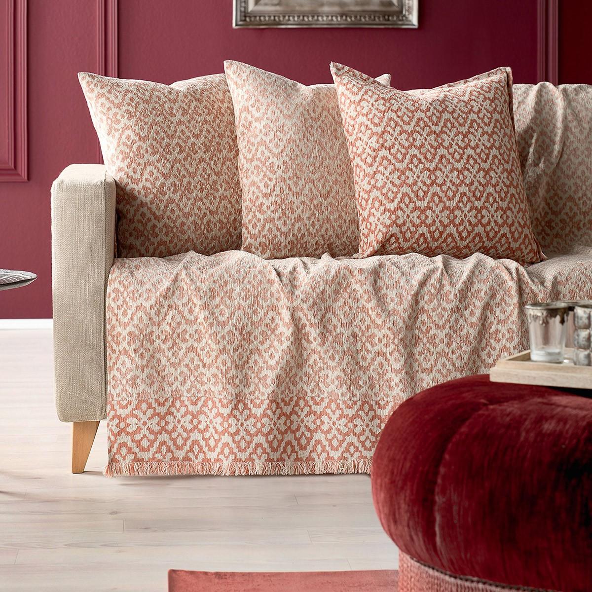 Ριχτάρι Τετραθέσιου (180x350) Gofis Home Peru Pink 452/17