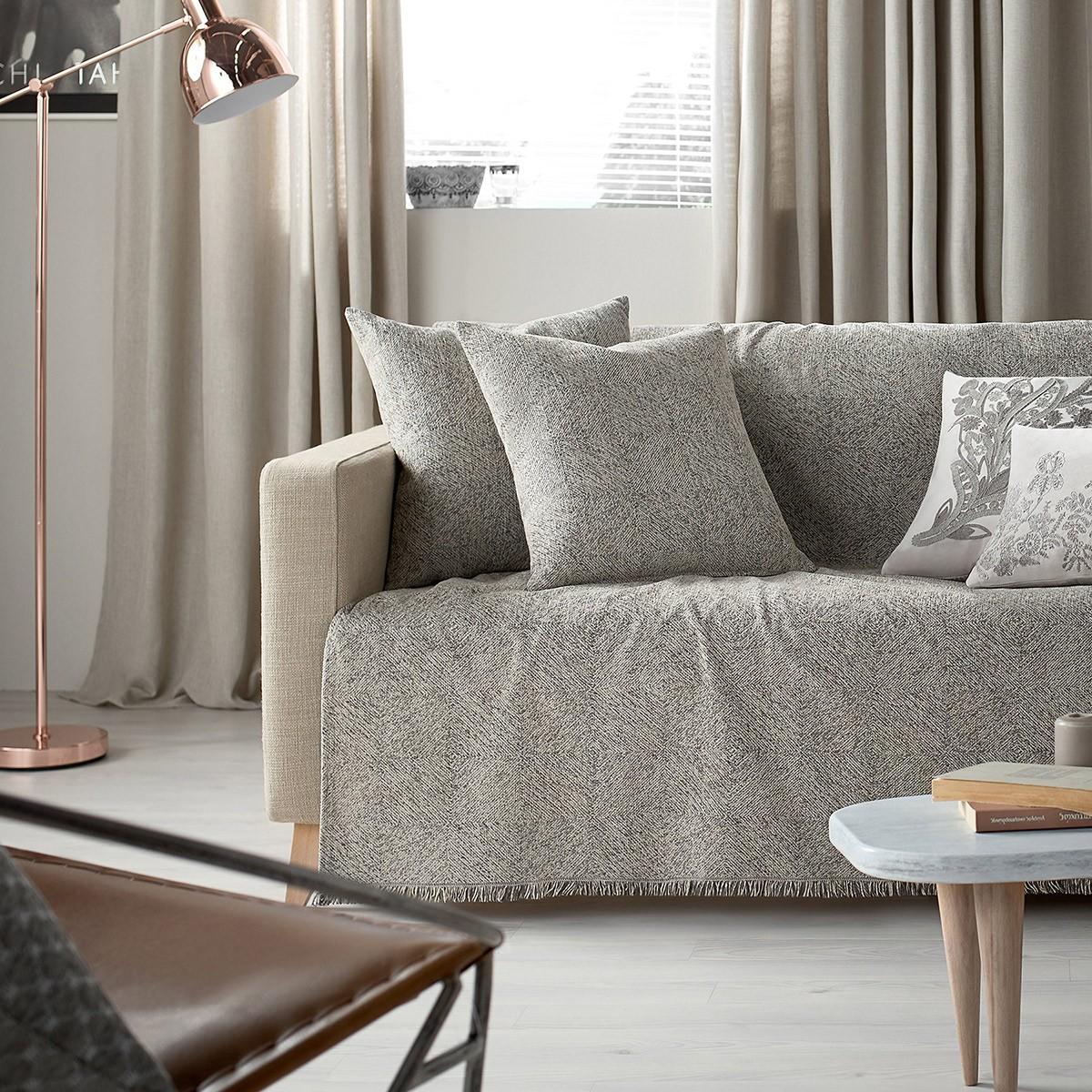 Ριχτάρι Τετραθέσιου (180x350) Gofis Home Livorno Grey 788/15