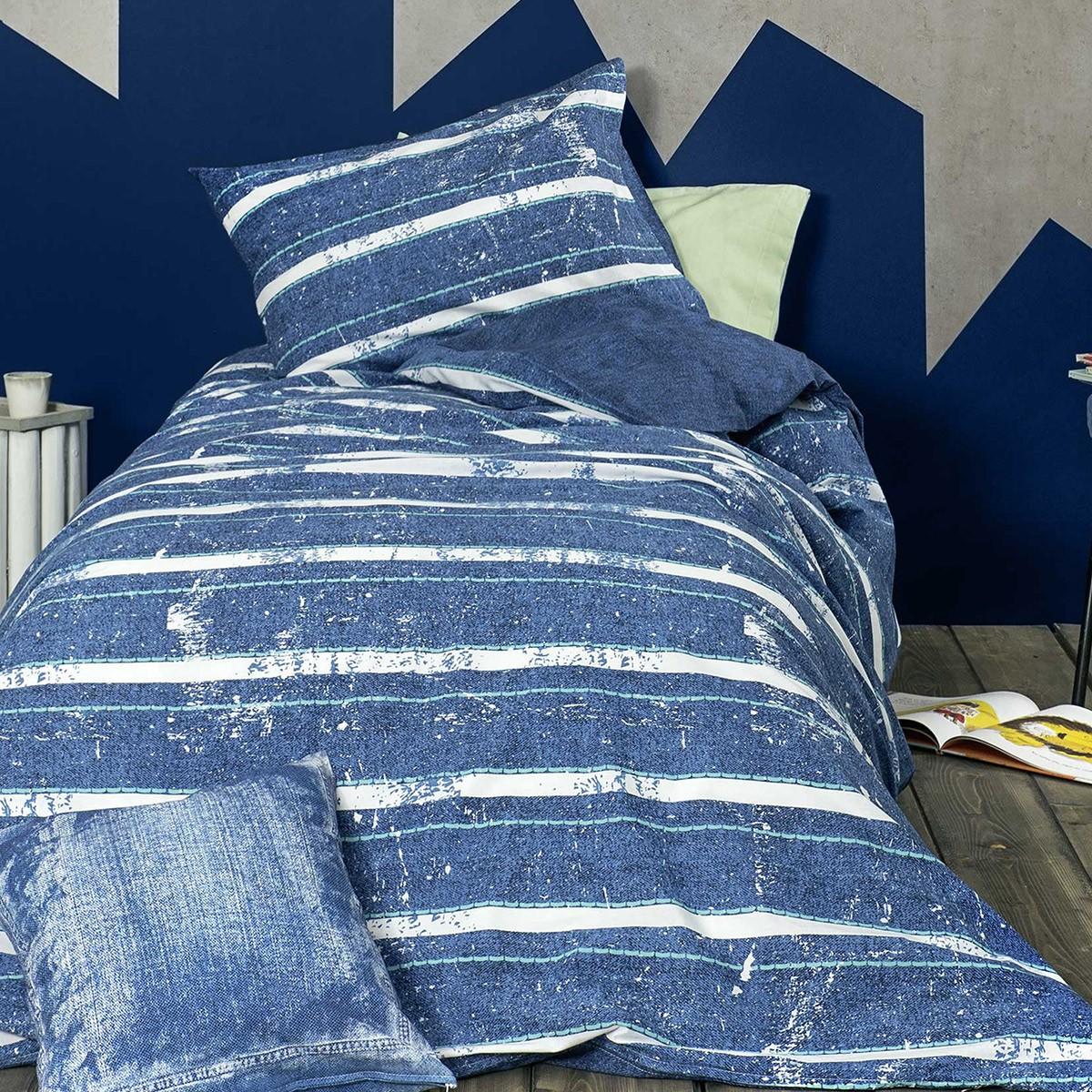 Παπλωματοθήκη Μονή (Σετ) Nima Teens Jeans Blue