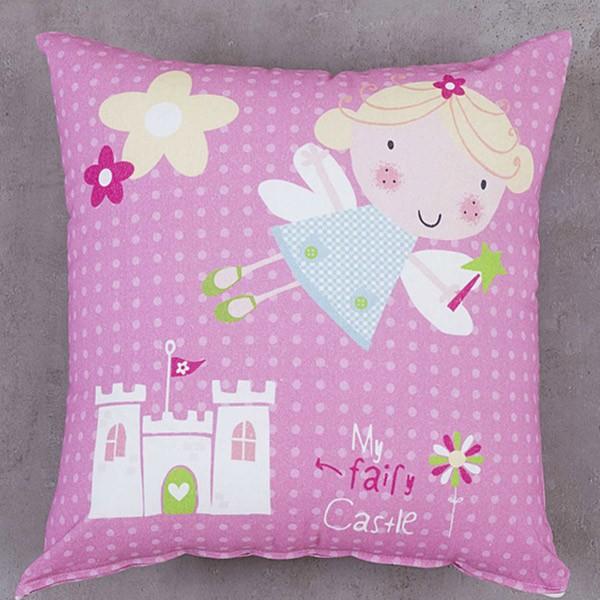 Διακοσμητική Μαξιλαροθήκη Nima Kids Cushion Fairy Castle