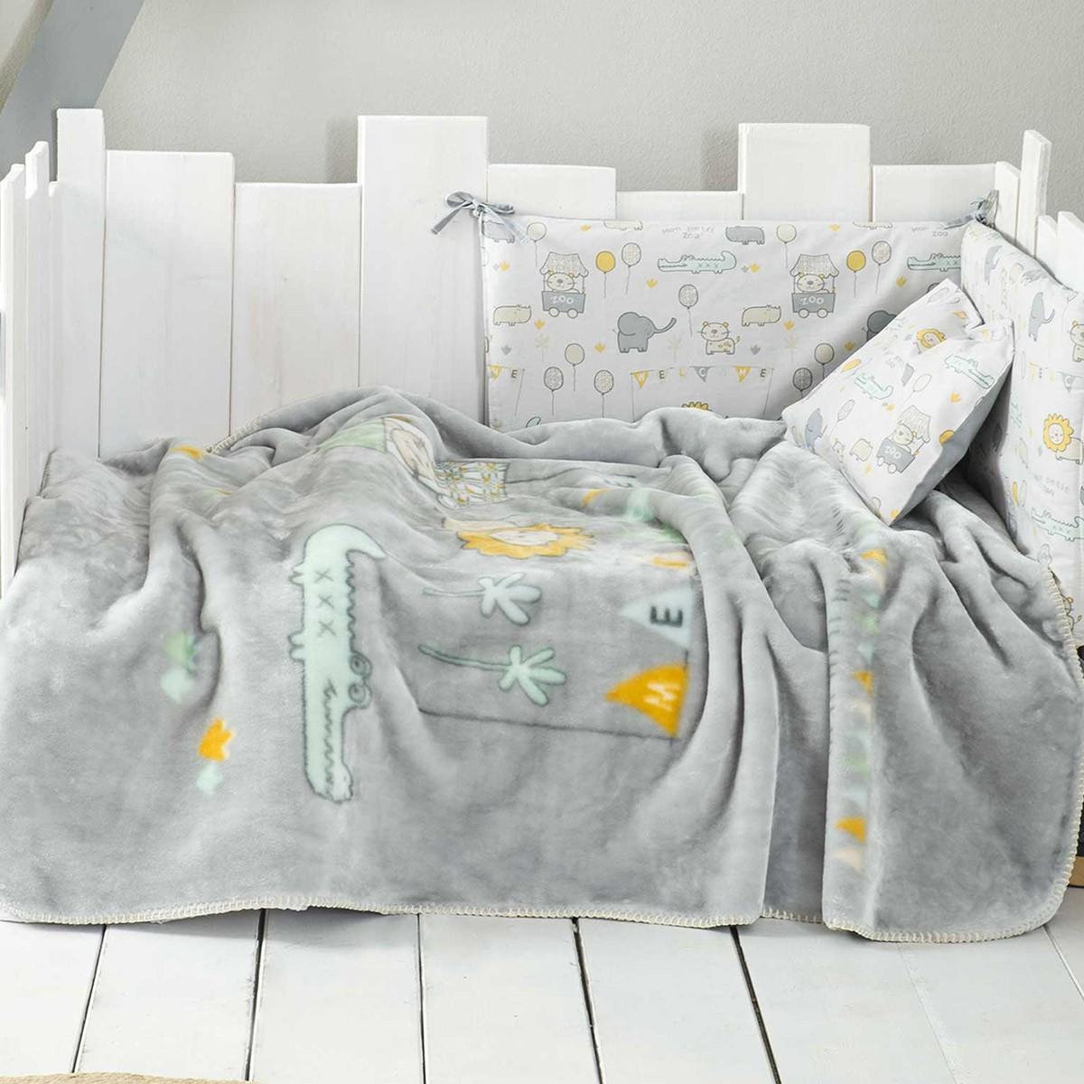 Κουβέρτα Βελουτέ Κούνιας Nima Baby Petit Zoo 77036