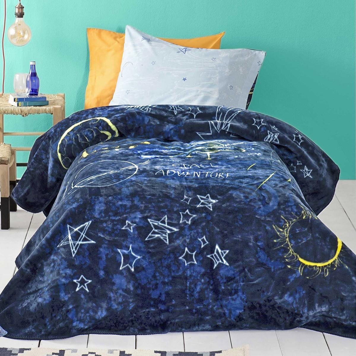 Κουβέρτα Βελουτέ Μονή Nima Kids Space Adventure home   παιδικά   κουβέρτες παιδικές   κουβέρτες βελουτέ