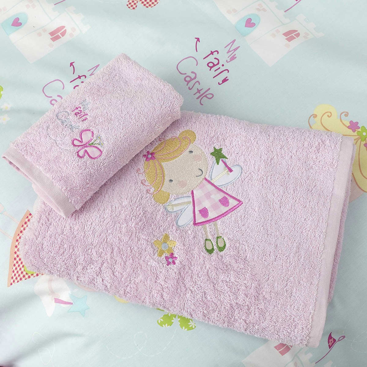 Παιδικές Πετσέτες (Σετ 2τμχ) Nima Kids Castle Fairy