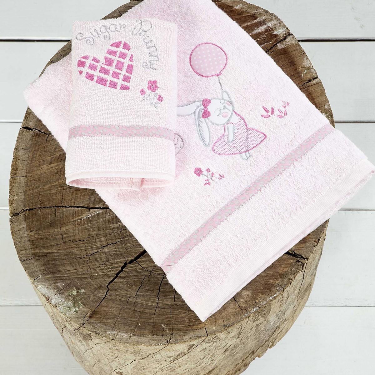 Βρεφικές Πετσέτες (Σετ 2τμχ) Nima Baby Sugar Bunny