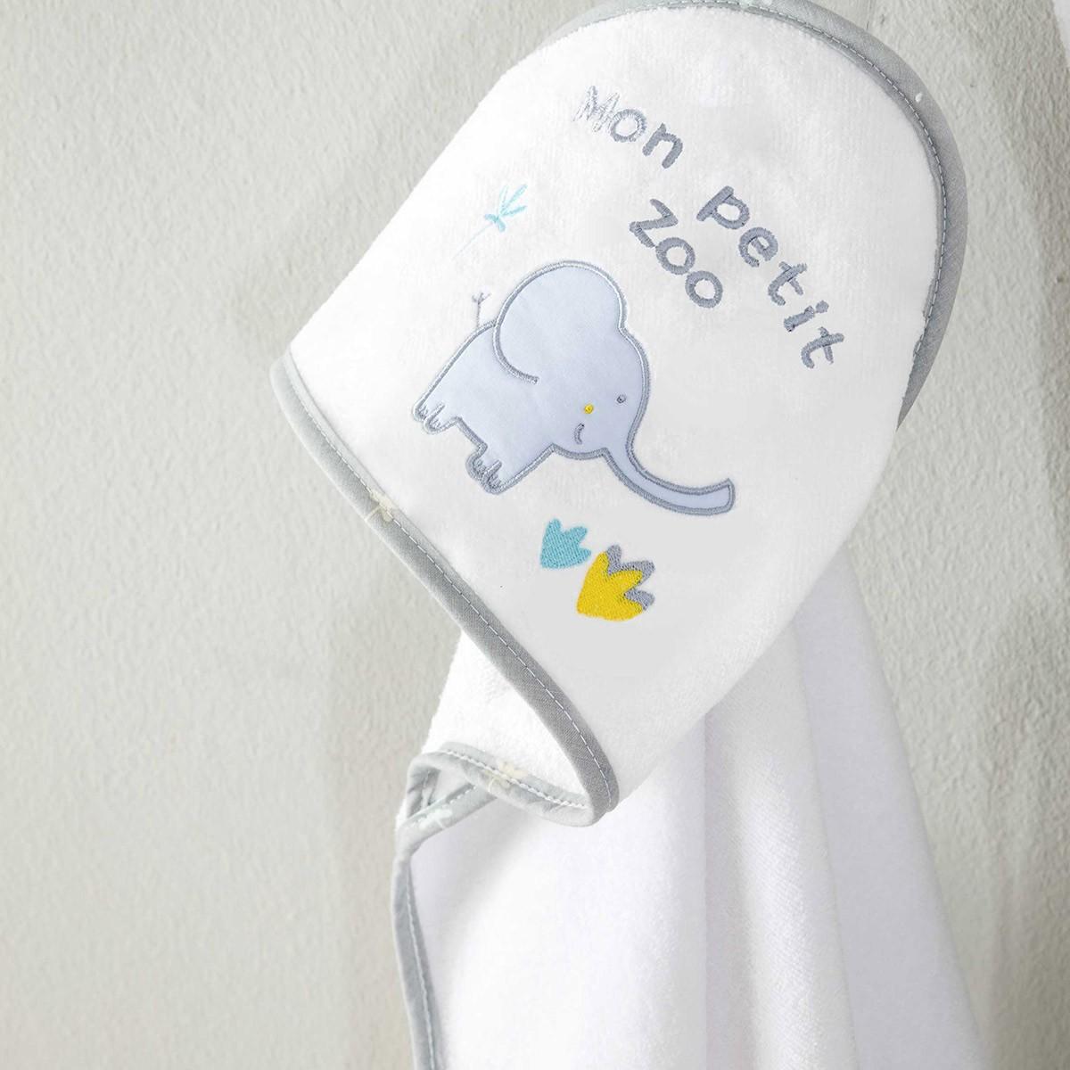 Βρεφική Κάπα (0-12 μηνών) Nima Baby Petit Zoo Grey