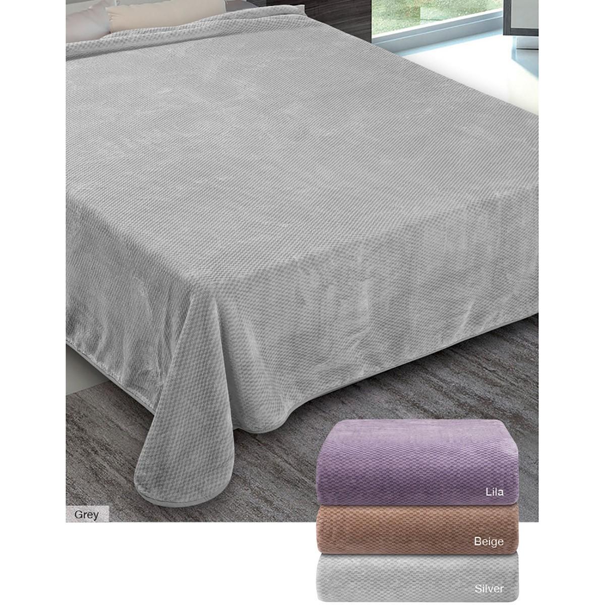 Κουβέρτα Βελουτέ Υπέρδιπλη Adam Home Interweaving 800