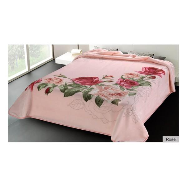 Κουβέρτα Βελουτέ Υπέρδιπλη Belpla Ster 5228 Rose