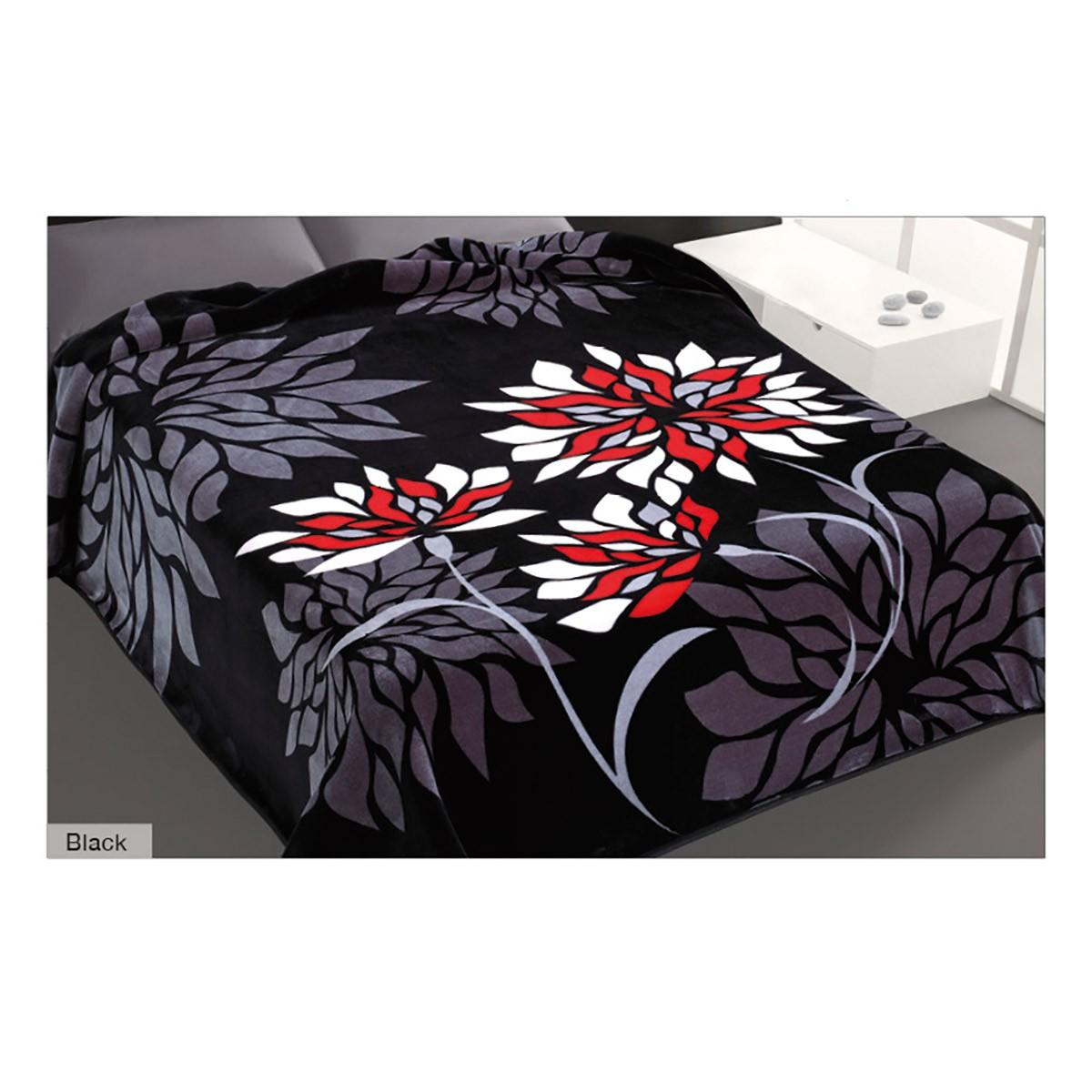 Κουβέρτα Βελουτέ Υπέρδιπλη Belpla Ster 270 Black