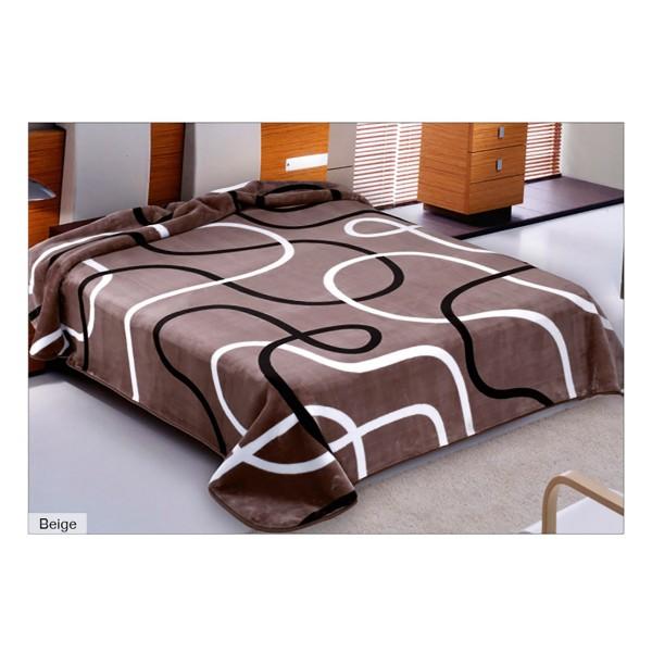 Κουβέρτα Βελουτέ Μονή Belpla Ster 241 Beige
