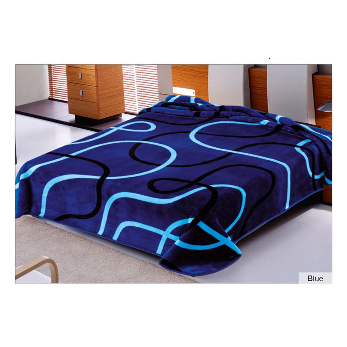 Κουβέρτα Βελουτέ Μονή Belpla Ster 241 Blue
