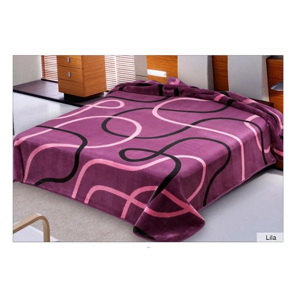 Κουβέρτα Βελουτέ Υπέρδιπλη Belpla Ster 241 Lilac