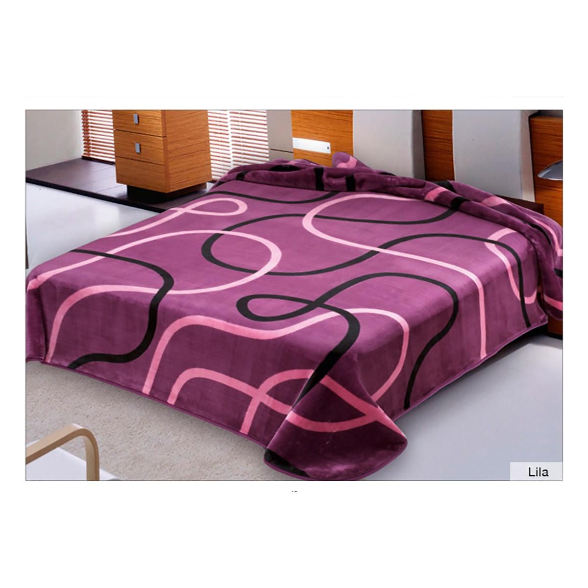 Κουβέρτα Βελουτέ Μονή Belpla Ster 241 Lilac