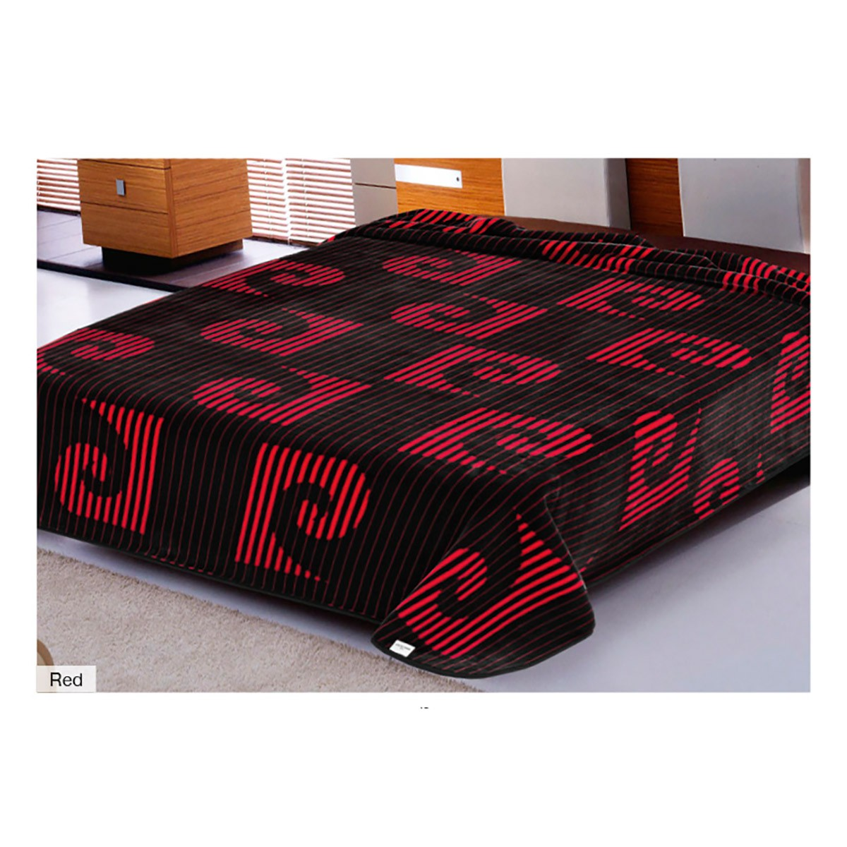 Κουβέρτα Βελουτέ Υπέρδιπλη Pierre Cardin Nancy 267 Red