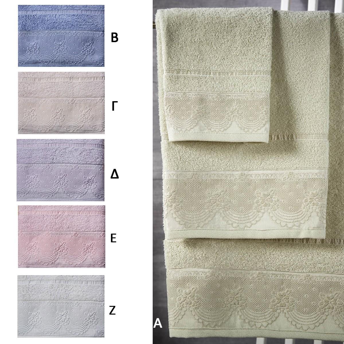 Πετσέτες Μπάνιου (Σετ 3τμχ) White Egg Μαρίνα