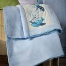 Κουβέρτα Fleece Κούνιας White Egg Αρκουδάκι B 77419