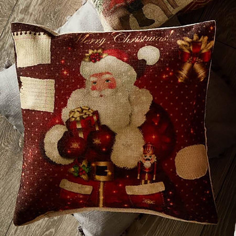 Χριστουγεννιάτικη Μαξιλαροθήκη White Egg Άγιος Βασίλης