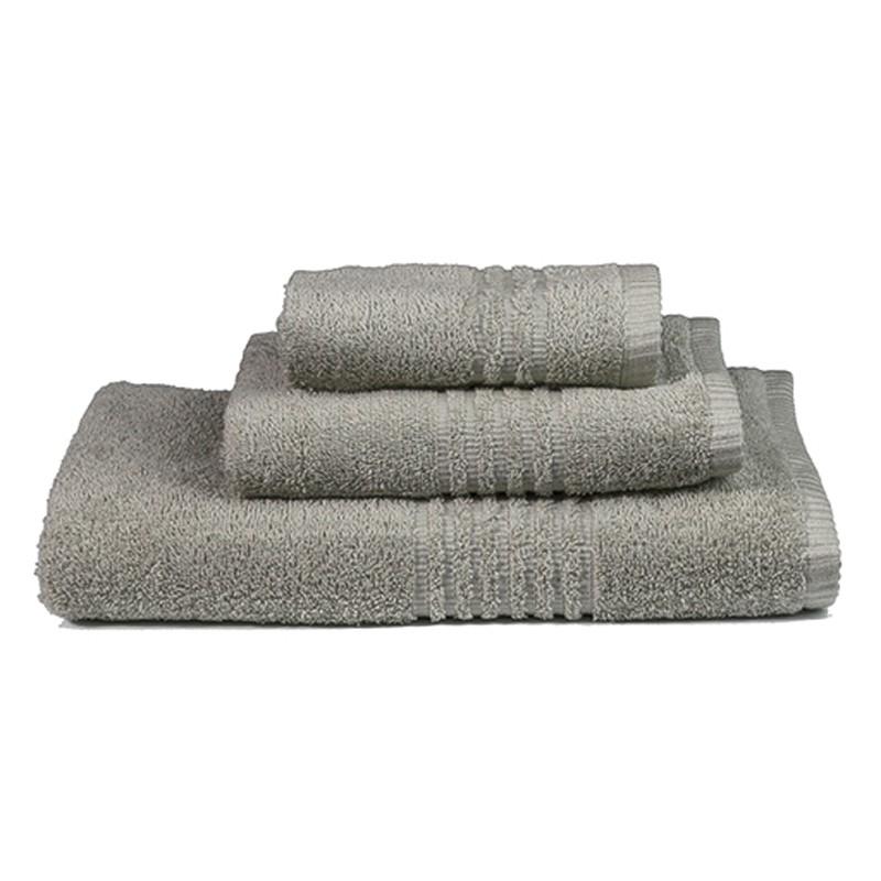 Πετσέτες Μπάνιου (Σετ 3τμχ) Nima Towels Savoia Grey