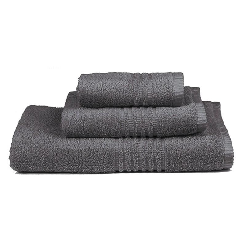 Πετσέτες Μπάνιου (Σετ 3τμχ) Nima Towels Savoia Dark Grey
