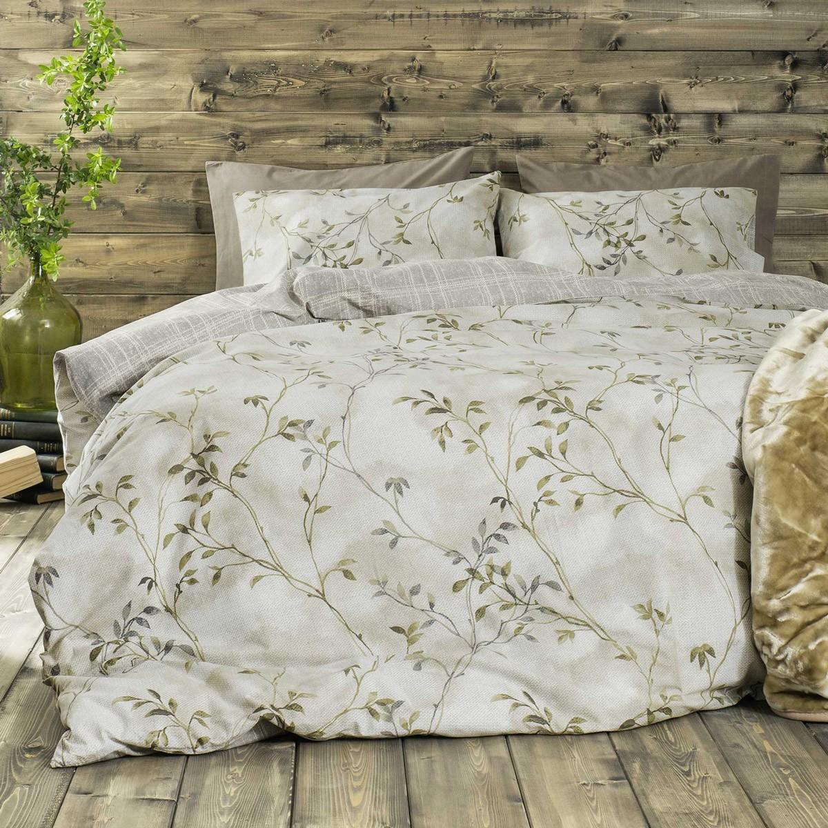 Παπλωματοθήκη Μονή (Σετ) Nima Bed Linen Fiorenza Green