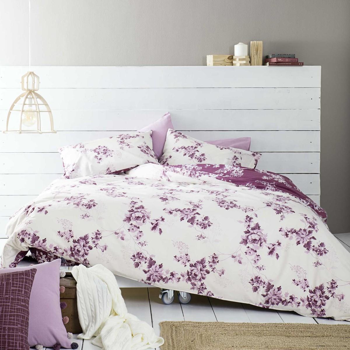 Παπλωματοθήκη Μονή (Σετ) Nima Bed Linen Carmelita Pink