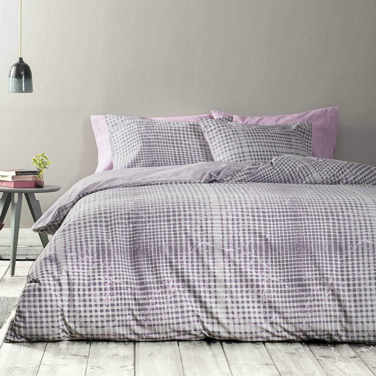 Παπλωματοθήκη Υπέρδιπλη (Σετ) Nima Bed Linen Ricardi Purple