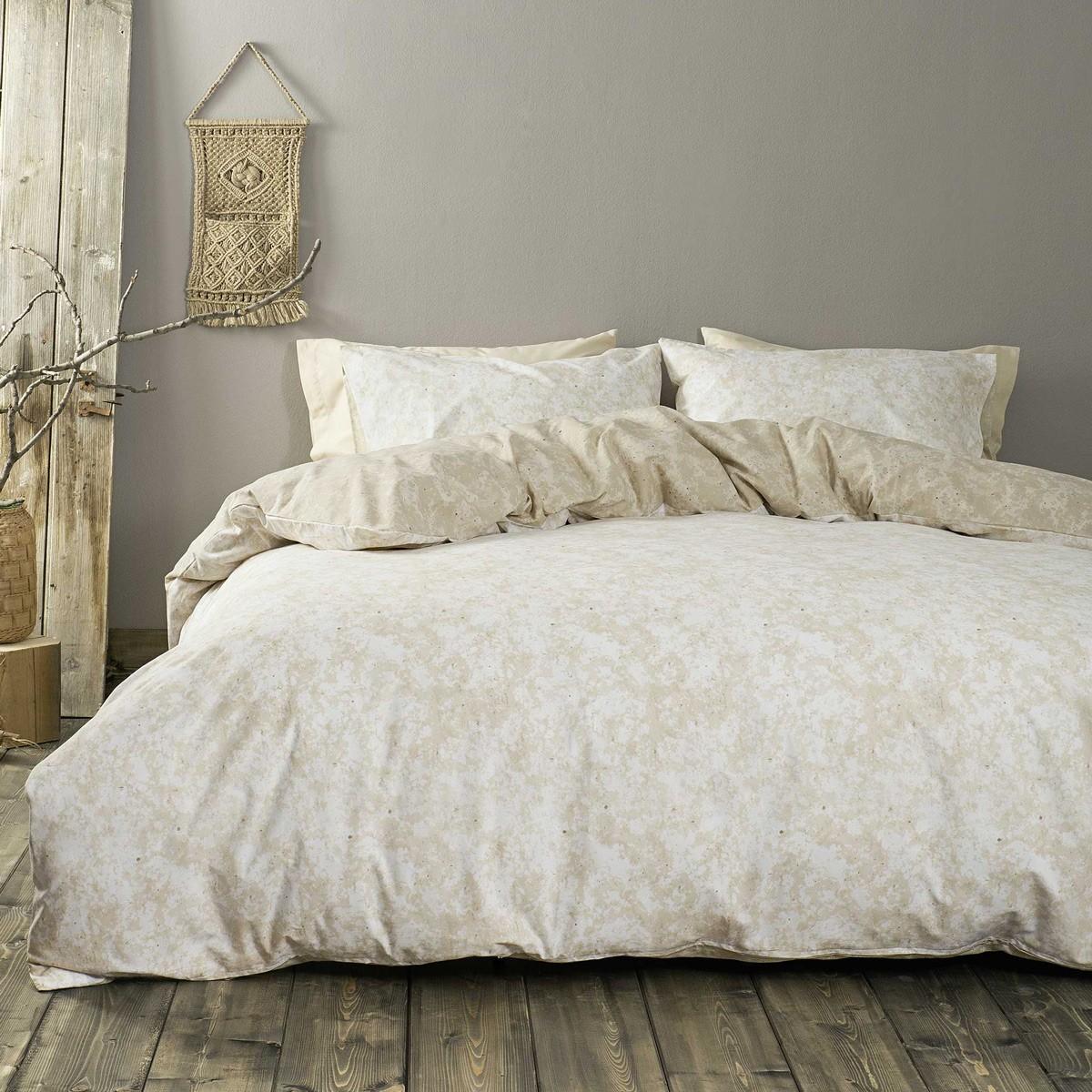 Παπλωματοθήκη Μονή (Σετ) Nima Bed Linen Carara Beige