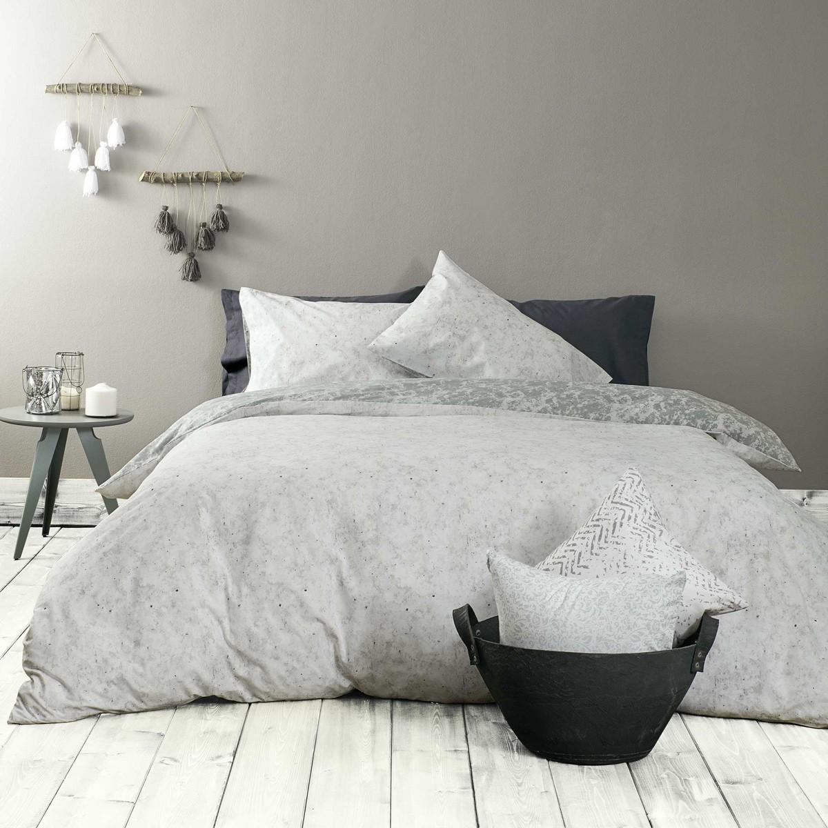 Παπλωματοθήκη Μονή (Σετ) Nima Bed Linen Carara Grey
