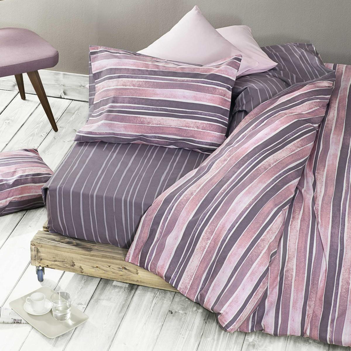 Σεντόνια Υπέρδιπλα (Σετ) Nima Bed Linen Arrigo Pink ΧΩΡΙΣ ΛΑΣΤΙΧΟ ΧΩΡΙΣ ΛΑΣΤΙΧΟ