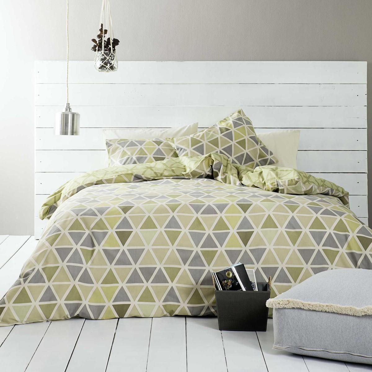Παπλωματοθήκη Μονή (Σετ) Nima Bed Linen Monterrey Green