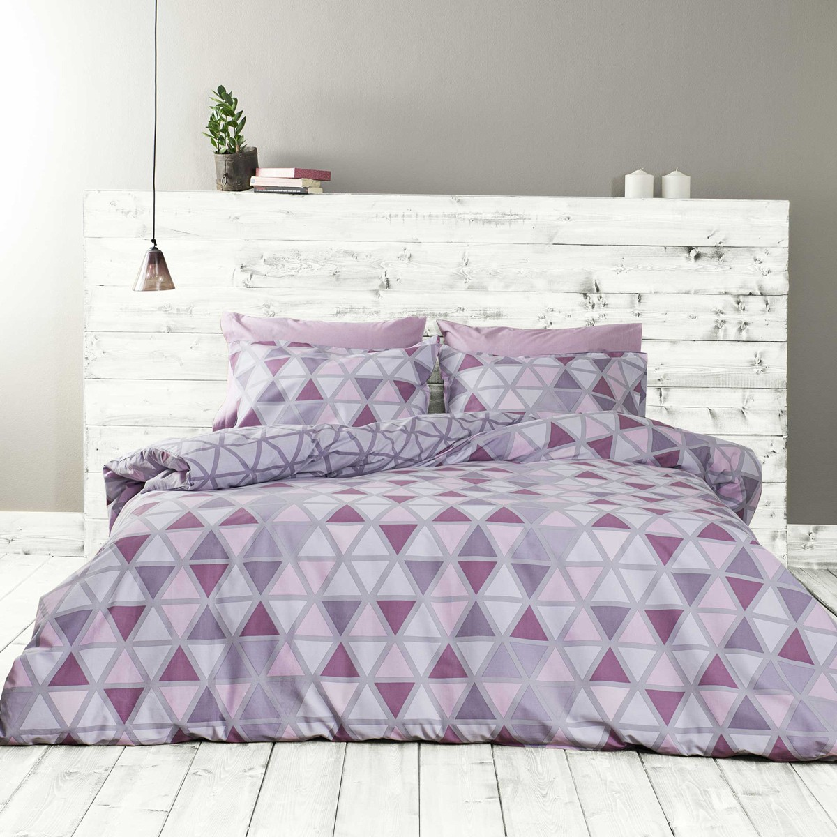 Σεντόνια Υπέρδιπλα (Σετ) Nima Bed Linen Monterrey Purple ΜΕ ΛΑΣΤΙΧΟ ΜΕ ΛΑΣΤΙΧΟ