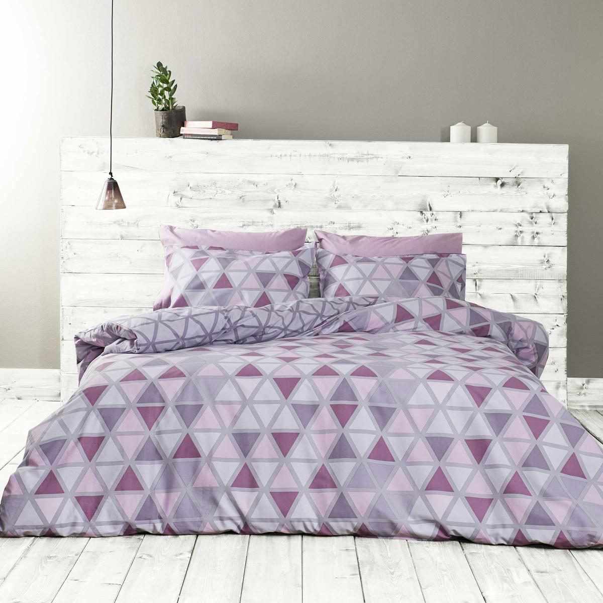 Παπλωματοθήκη Μονή (Σετ) Nima Bed Linen Monterrey Purple