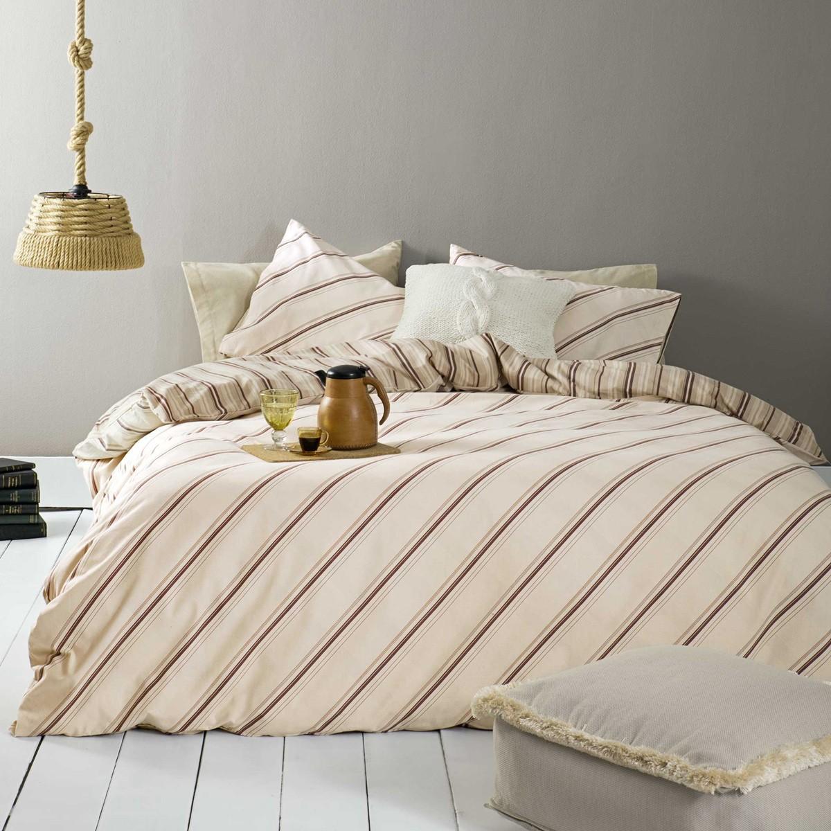 Φανελένια Παπλωματοθήκη Υπέρδιπλη (Σετ) Nima Bed Linen Bellini