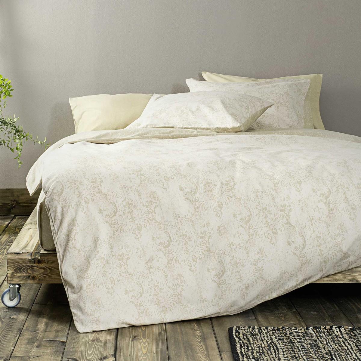 Φανελένια Παπλωματοθήκη Μονή (Σετ) Nima Bed Linen Damascus