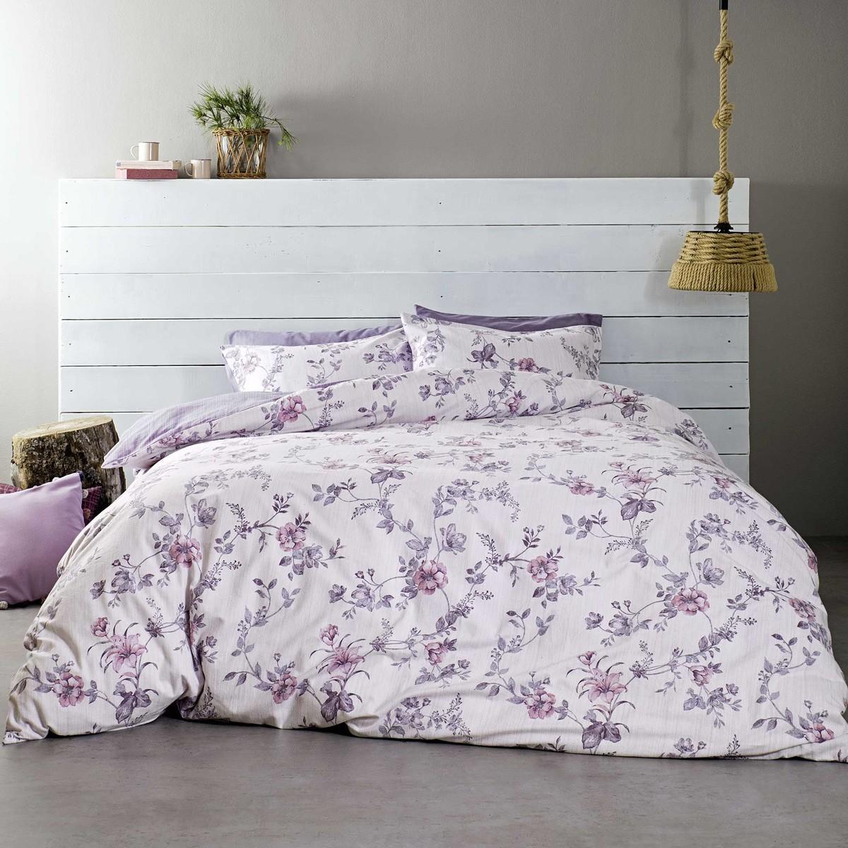 Φανελένια Σεντόνια Υπέρδιπλα (Σετ) Nima Bed Linen Ginata